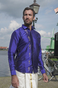 Ganapati Printed Pure Silk Shirt