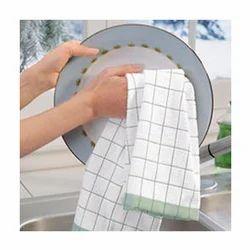 Mercury纯棉茶厨房毛巾印花检查条纹设计