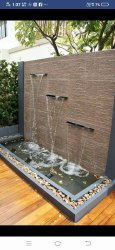 Modern Outdoor Sandstone Wall Water Fountain