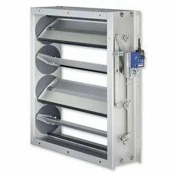 Rectangular Galvanized Steel (GI) Silver Aluminum Ventilation Damper for Fire Control