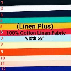 Cotton Linen Fabric (Linen Plus)