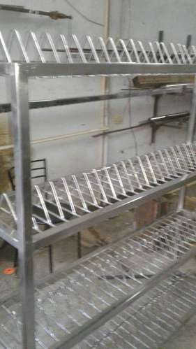 Stainless Steel Plate Rack & Stainless Steel Plate Rack at Rs 5400 /piece | Stainless Steel Rack ...