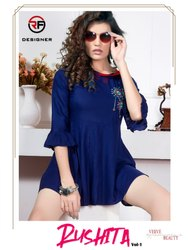 Rushita Vol 1-Rf Designer New Modern Short Kurtis