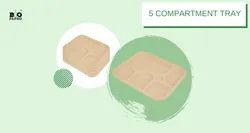 5 Compartment Disposable Bagasse Tray