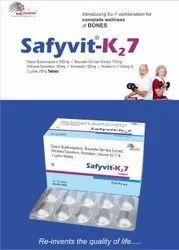 Vitamin K2-7 50mcg Calcium citrate 1000mg Vitamin D3 200 IU. Magnesium Oxide 50mg Zinc Oxide 15mg