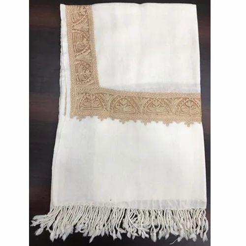 b9c555b90 White Embroidery Ladies Pure Wool Shawls, Rs 1000 /piece, Simplex ...