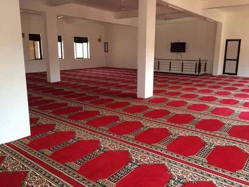 Imported Heatset Mosque Carpet Runner Saff Size 4x100 12x100
