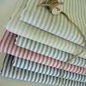 Linen Cotton Fabric Striped Design