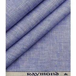 linen Plain Raymond Blue Shirting Fabric, Dry clean