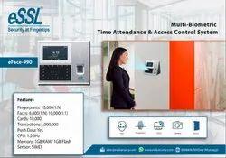 eSSL eFace 990 Multi Biometric Time Attendance Access Control System