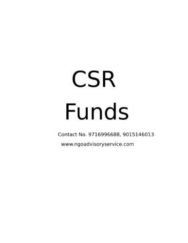 CSR Funds To NGO
