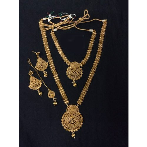 Wedding Wear Traditional Gold Plated Necklace Set Packaging Type