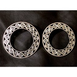 Oxidized Round Shape Earrings