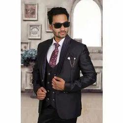 Plain Men Terry Rayon Party Wear Suit
