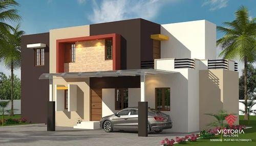 Modern Villas At Palakkad Villa Construction Service