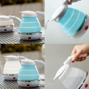 Travel Foldable Electric Kettle - Dual Voltage - Fast Water Boiling - Foldable Travel Electric
