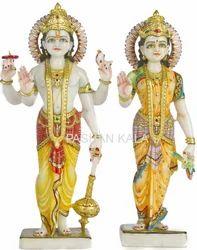 Marble Vishnuji Laxmi Statue