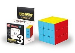 3x3 QIYI Warrior W Stickerless Educational 3D Puzzle Toy Brain Teaser Recommended Age 3-99 years