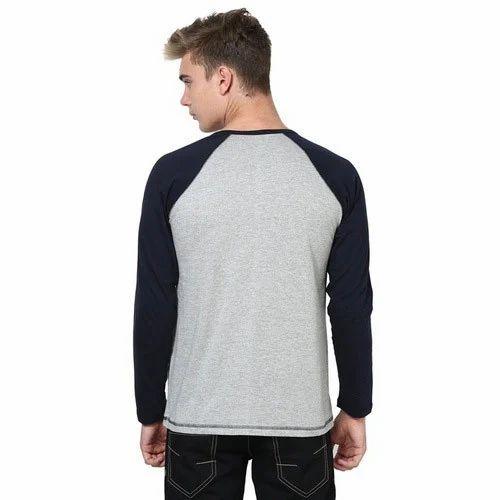 Dual Color Full Sleeve T Shirt a636b2622
