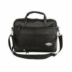 Black Plain Leather Designer Bags
