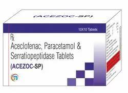 Aceclofenac, Serrationpeptidase & Paracetamol Tablets