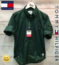 Cotton Plain Tommy Hilfigure Shirts