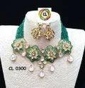 CL Jewellery Onex Beads Kundan Meenakari Customised Costume Fashion Necklace