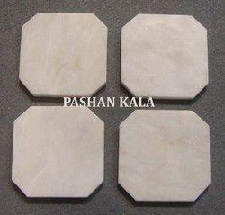 White Marble Plane Coasters
