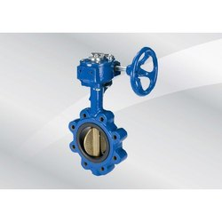 CI Gear Operated Lug Type Butterfly Valve