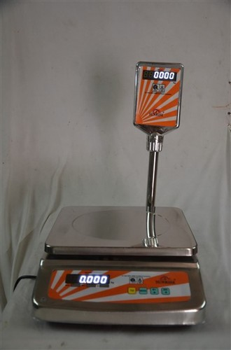 SS Pole Table Top Scale - 30kg - Red Display