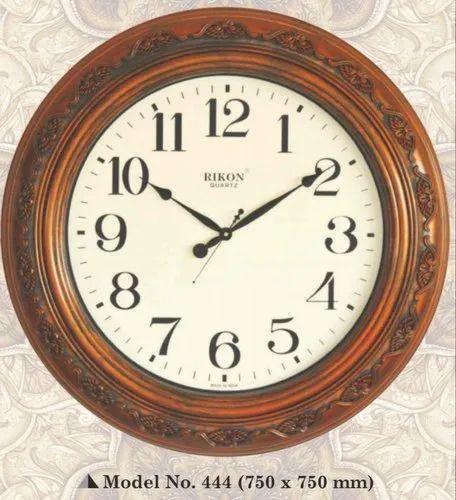 Rikon Brown R 444 Big Round Wall Clock, Big Round Clock