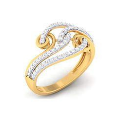 Ladies Real Diamond Engagement Ring, 4.35 Grams