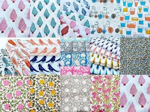 5 Yard Indian Hand Block Print Fabric 100/% Cotton Crafting Pink City Textile