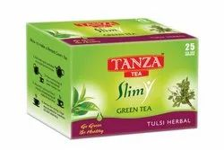 Tanza Tea Slim Green Tea Bags Tulsi Herbal