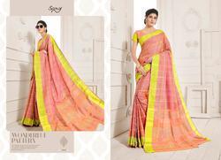 Saroj Peach Series 1001-1005 Stylish Party Wear Linen Saree