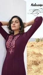 Kalaroop Kajree Lily vol 17 Casual Wear Embroidered Readymade Kurti