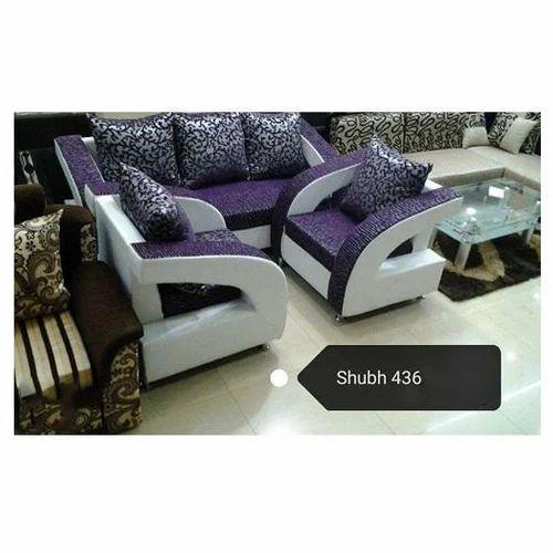 White And Purple Designer 5 Seater Sofa Set Rs 38000 Set Id