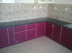 Modern V Shaped Modular Kitchen