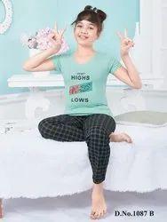 Cotton Regular Wear KuuKee 1087 Kids Night Suit Girls, T-Shirt,Pajama, Age Group: 4-16 Year