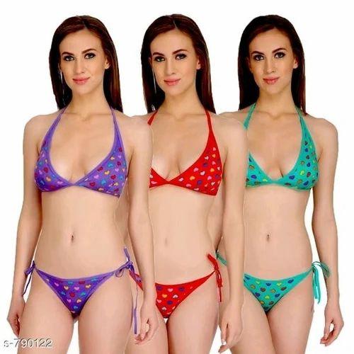 566aea4f285f DP Collections Extreme Micro Bikini Set Lingerie Bra Panty String Bikini  Womens Bikini Set Pack of
