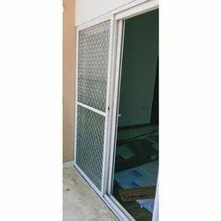 White Aluminium Aluminum Safety Mesh Door