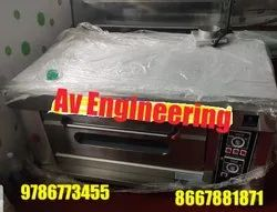 Gas Single Deck Two Tray Bakery Oven for Restaurant