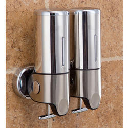 S.Steel Double Container Soap Dispenser