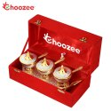 Choozee - Silver & Gold Plated Brass Trolley Mouthfreshner Set (11 x 4) Bowl 3 Diameter