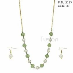 Designer Glass Beaded Necklace Set