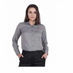 UB-SHI-AUTO-11 Dark Grey Fil a Fil Uniform Shirt
