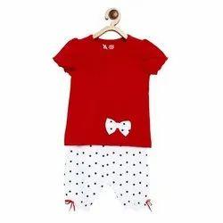 Casual Wear Printed Kids Cotton Dress