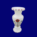 Modern Marble Inlay Flower Shape Design Vase