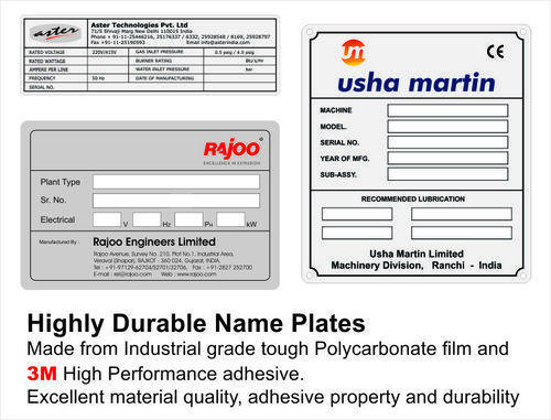 Name Plate For Machine Banners Signs Amp Nameplates