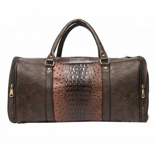 f007f63e229a Brown Designer Leather Duffle Bag